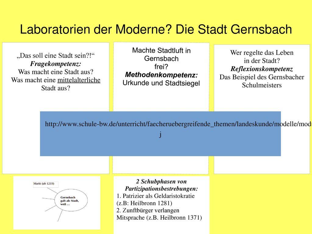 Laboratorien der Moderne Die Stadt Gernsbach