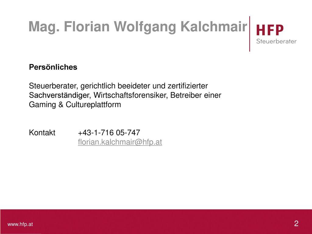 Mag. Florian Wolfgang Kalchmair