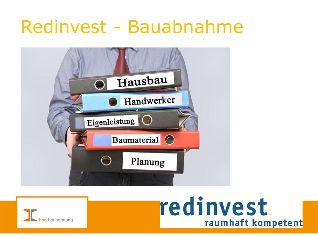 Redinvest - Bauabnahme