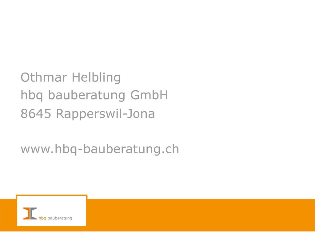 8645 Rapperswil-Jona www.hbq-bauberatung.ch