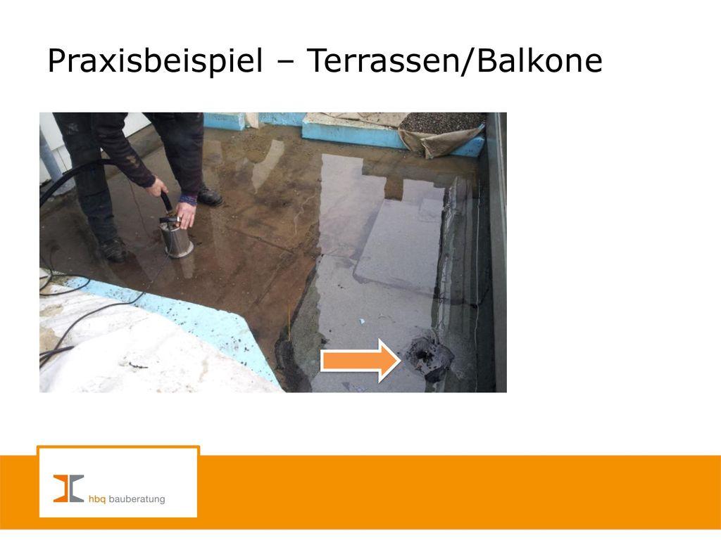 Praxisbeispiel – Terrassen/Balkone