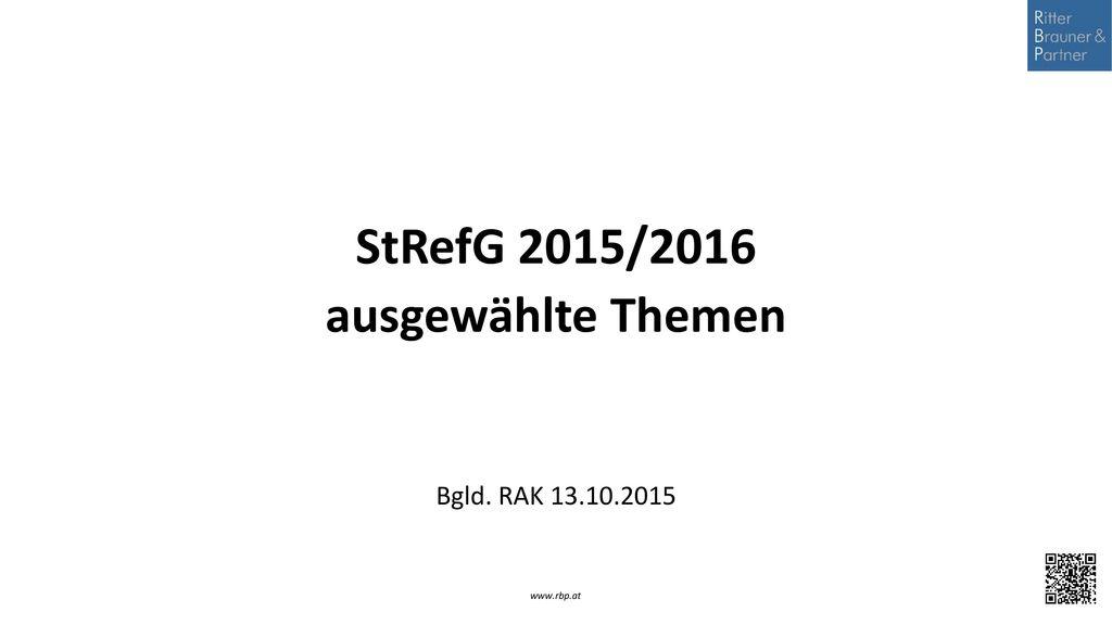 ausgewählte Themen Bgld. RAK 13.10.2015
