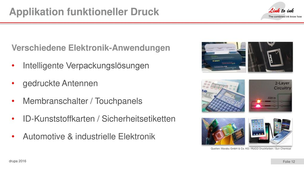 Applikation funktioneller Druck