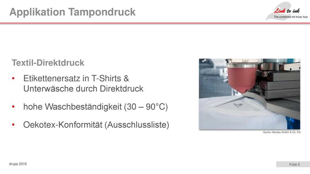 Applikation Tampondruck