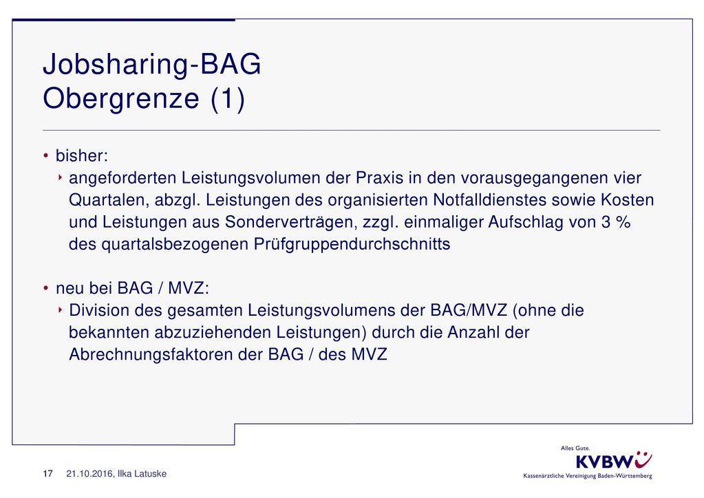 Jobsharing-BAG Obergrenze (1)