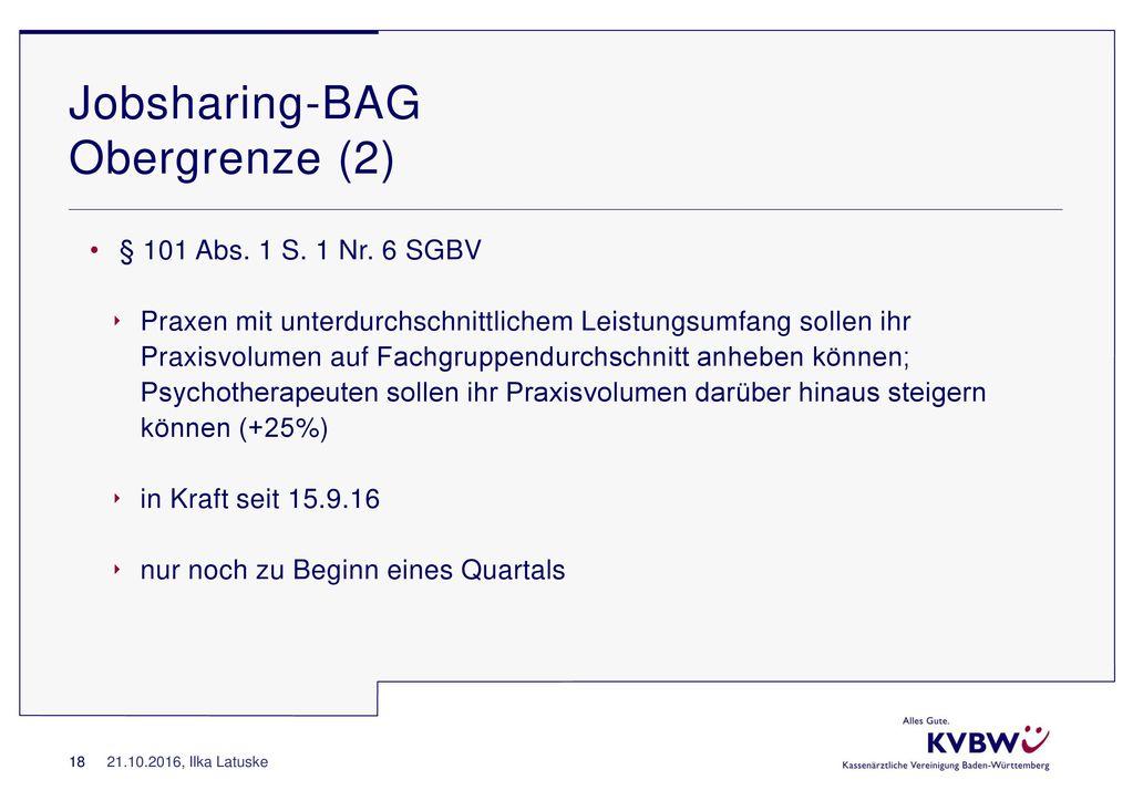 Jobsharing-BAG Obergrenze (2)