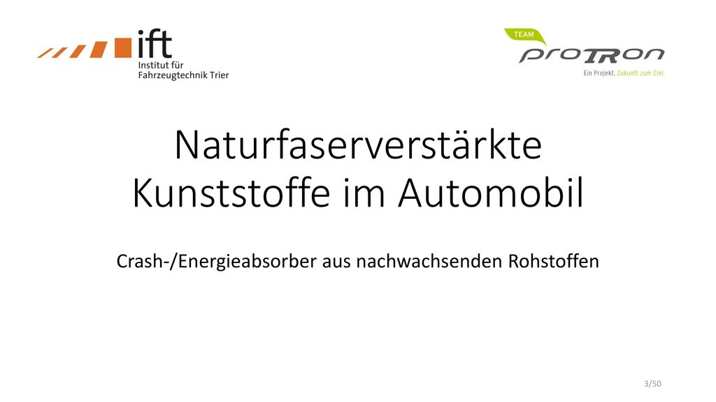 Naturfaserverstärkte Kunststoffe im Automobil