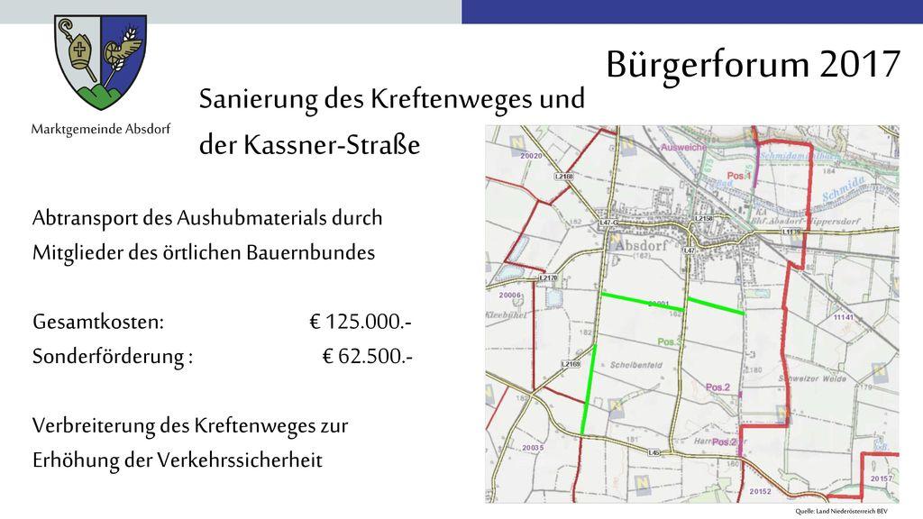 Sanierung des Kreftenweges und der Kassner-Straße