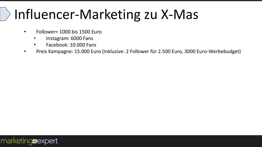 Influencer-Marketing zu X-Mas