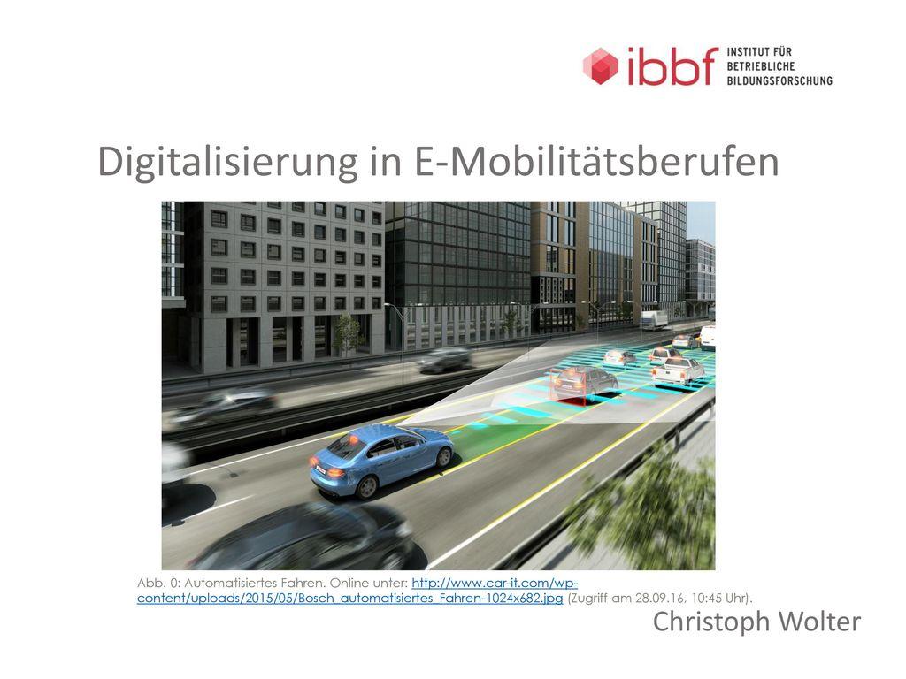 Digitalisierung in E-Mobilitätsberufen