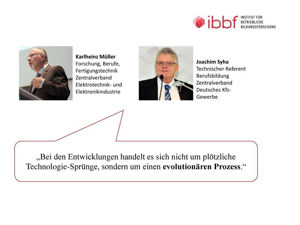 Karlheinz Müller Forschung, Berufe, Fertigungstechnik. Zentralverband Elektrotechnik- und Elektronikindustrie.