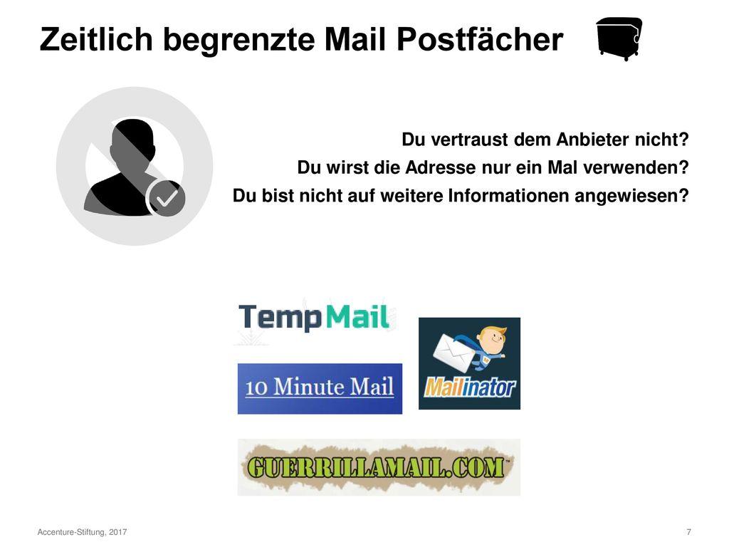 Postfach für regelmäßige Nutzung Postfach als Müllschlucker