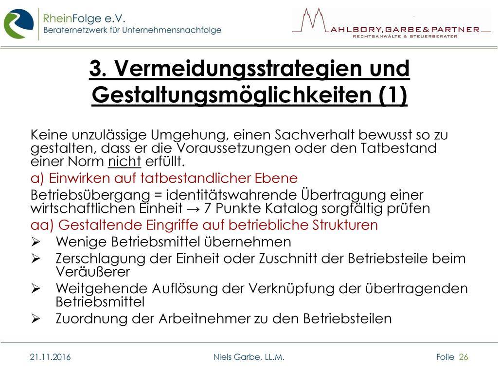 3. Vermeidungsstrategien und Gestaltungsmöglichkeiten (1)