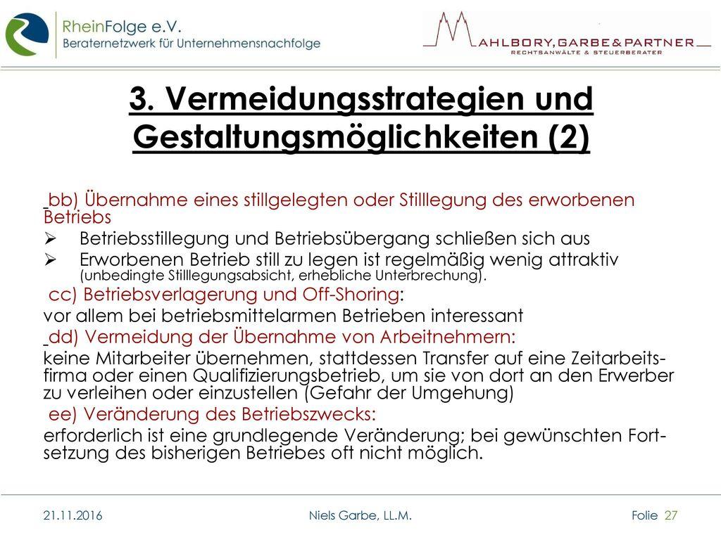 3. Vermeidungsstrategien und Gestaltungsmöglichkeiten (2)