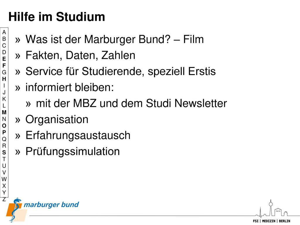 Hilfe im Studium Was ist der Marburger Bund – Film