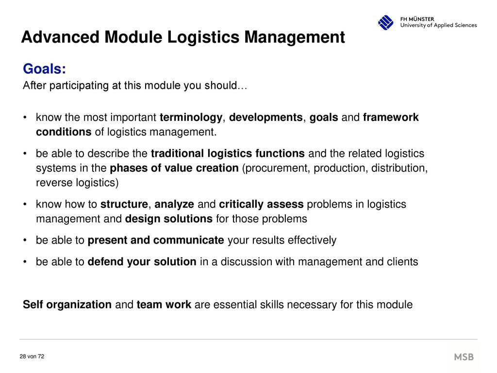 Advanced Module Logistics Management