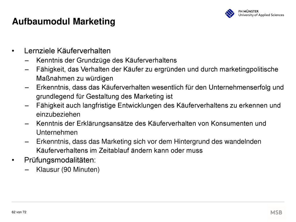 Aufbaumodul Marketing
