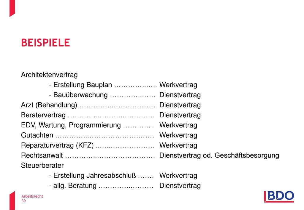 Beispiele Architektenvertrag - Erstellung Bauplan …………..…..