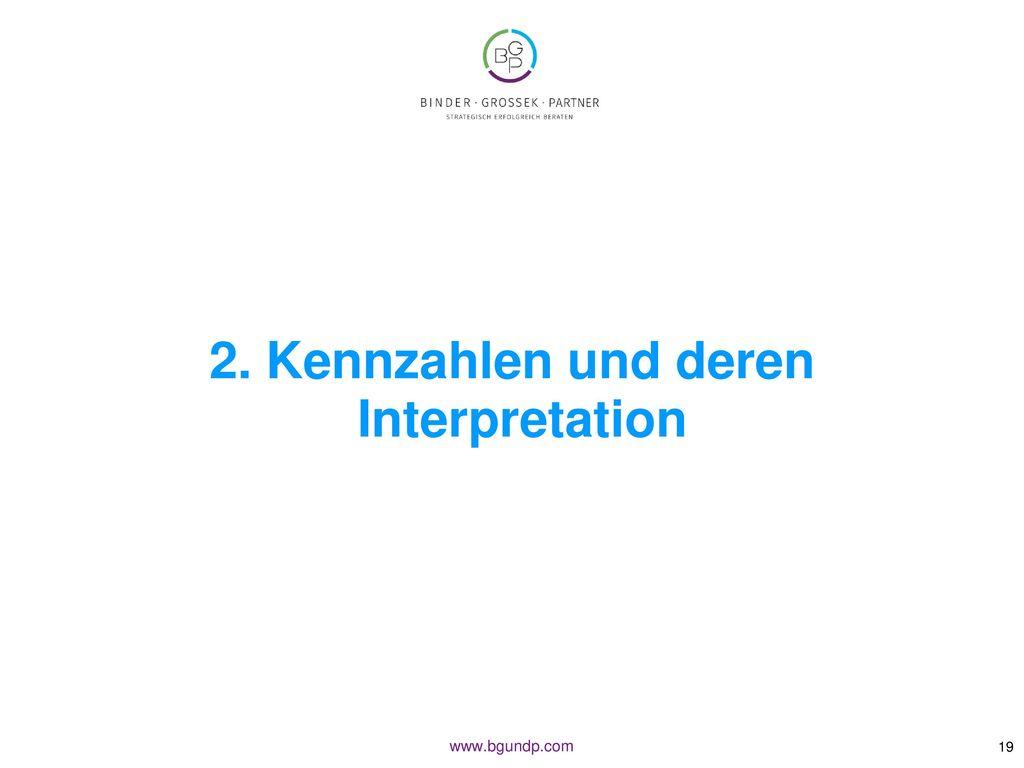 2. Kennzahlen und deren Interpretation