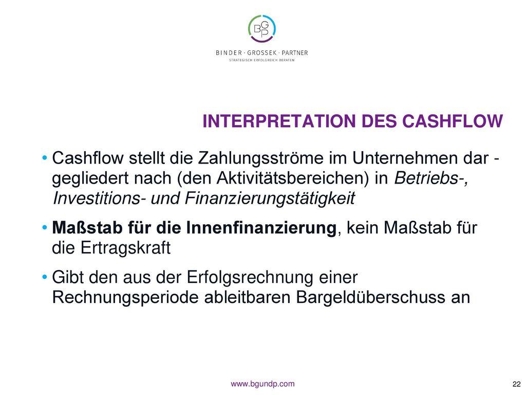 Interpretation des Cashflow