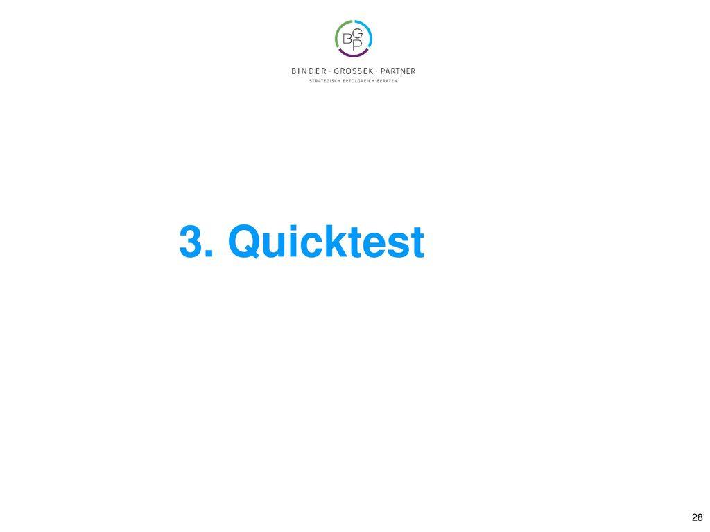3. Quicktest