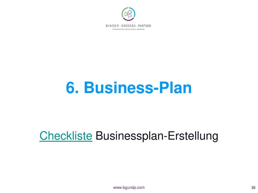 Checkliste Businessplan-Erstellung