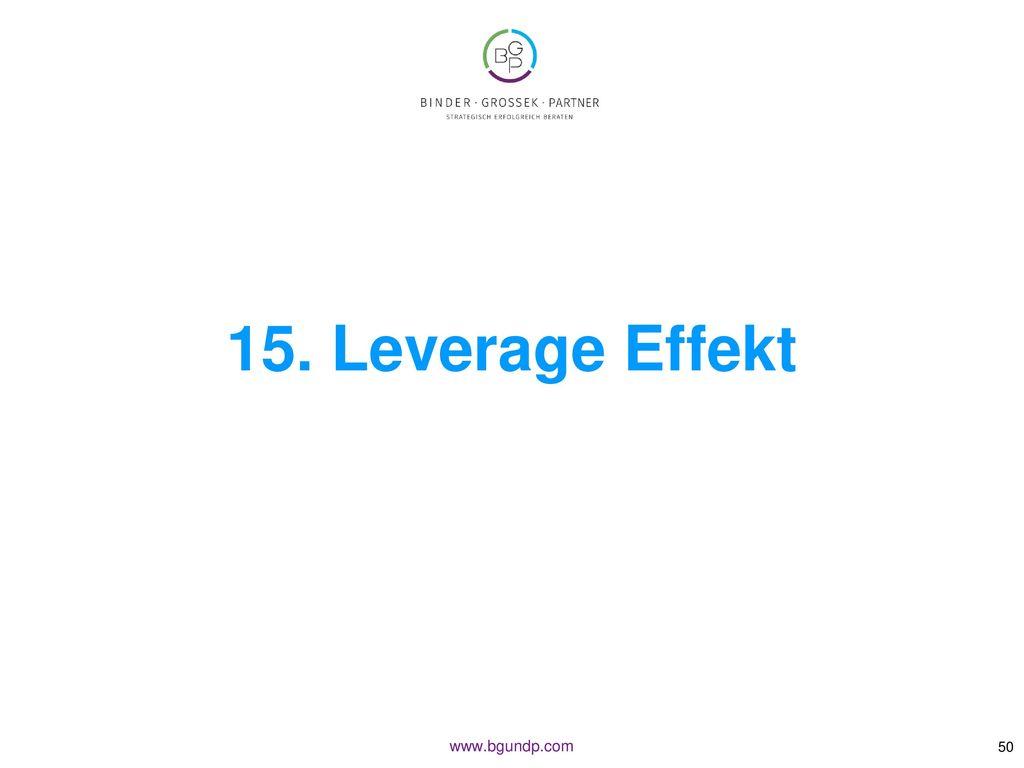 15. Leverage Effekt