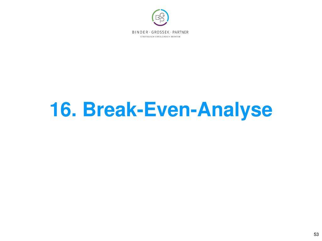 16. Break-Even-Analyse