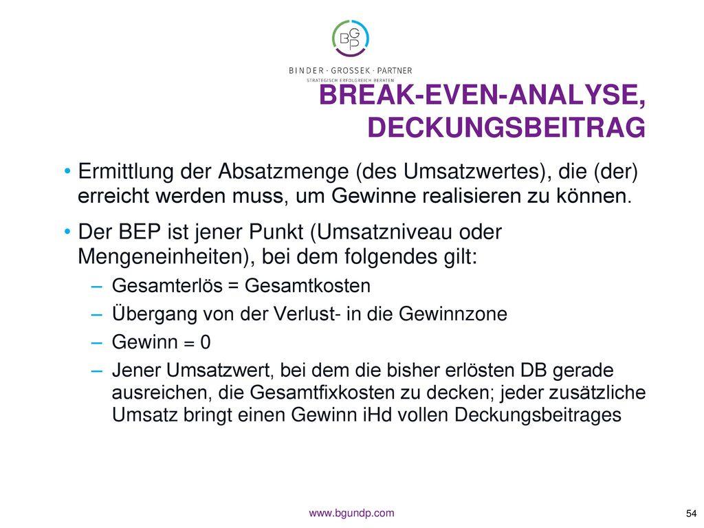 Break-Even-Analyse, Deckungsbeitrag