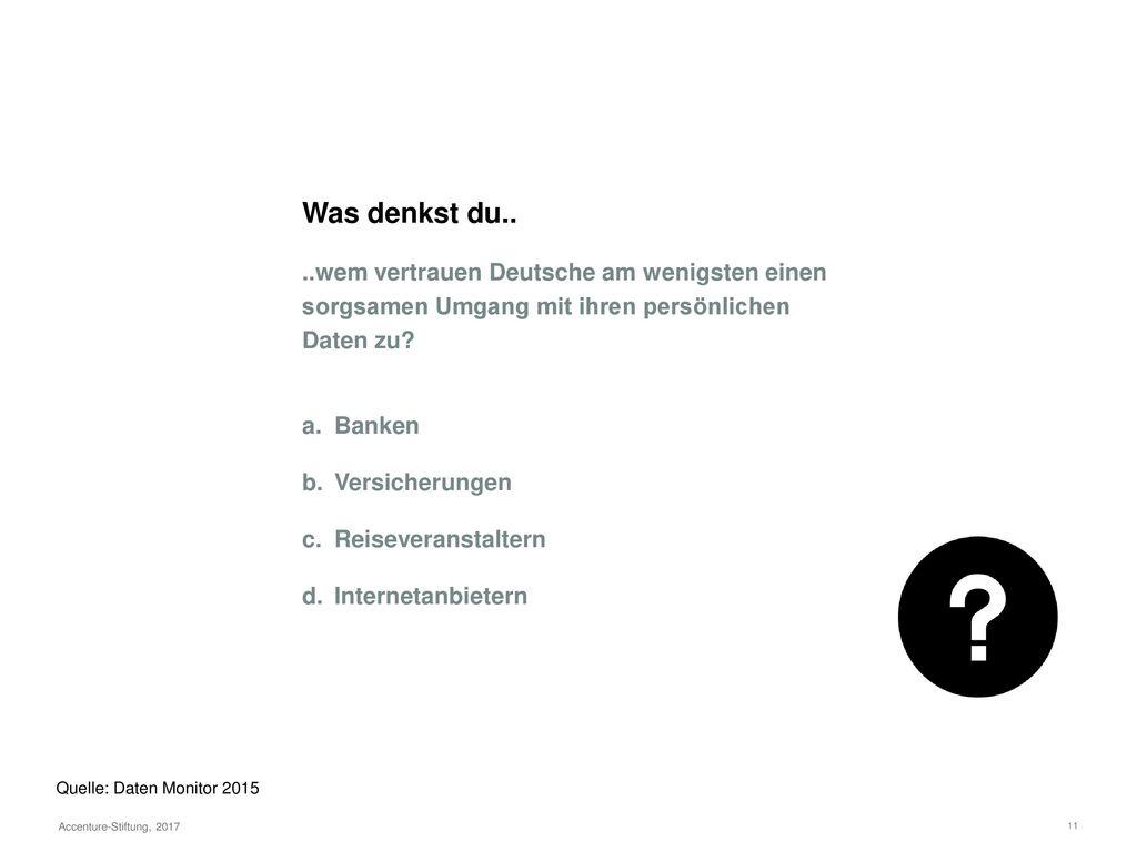 Was denkst du.. ..wie hoch ist der Anteil der Deutschen, die immer darauf achten, welche Daten sie im Internet über sich zur Verfügung stellen
