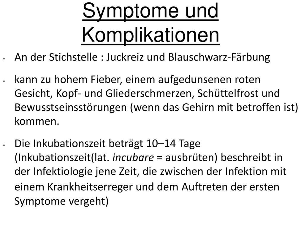 Symptome und Komplikationen