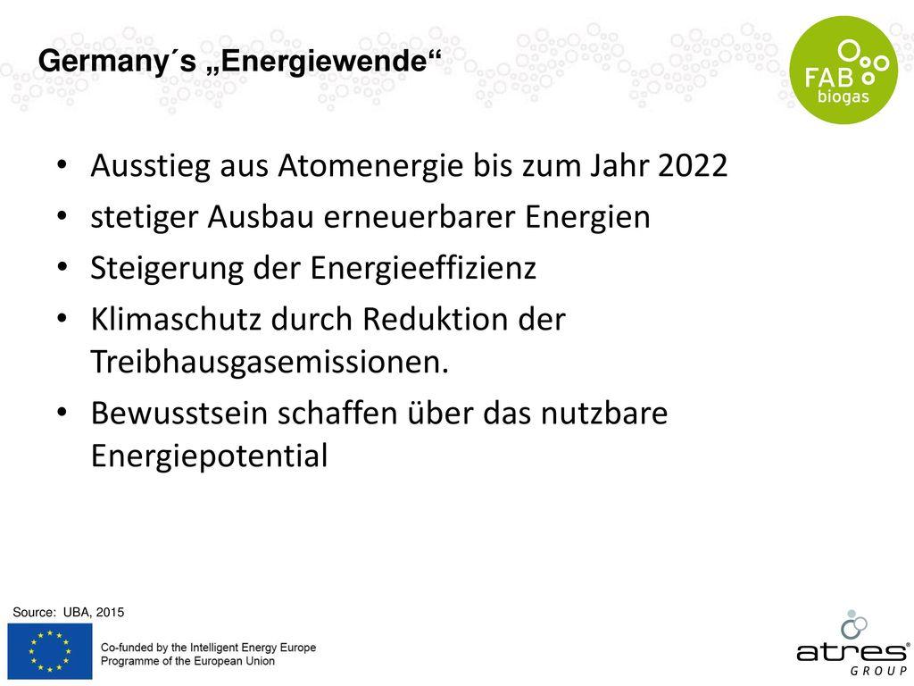 Ausstieg aus Atomenergie bis zum Jahr 2022