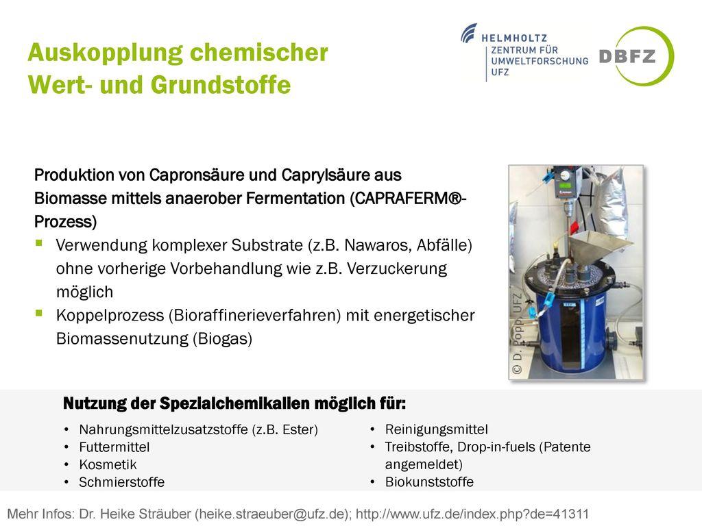 Auskopplung chemischer Wert- und Grundstoffe
