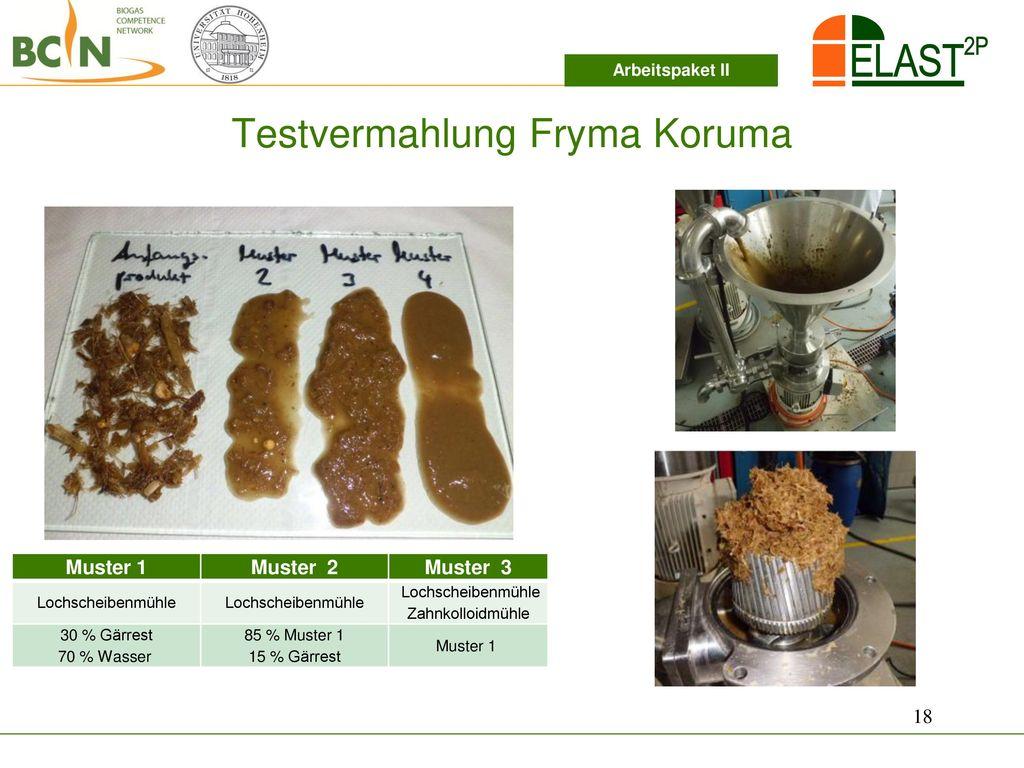 Testvermahlung Fryma Koruma