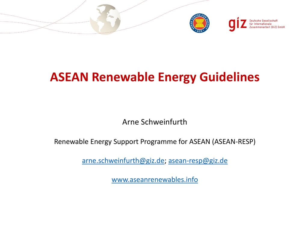 ASEAN Renewable Energy Guidelines
