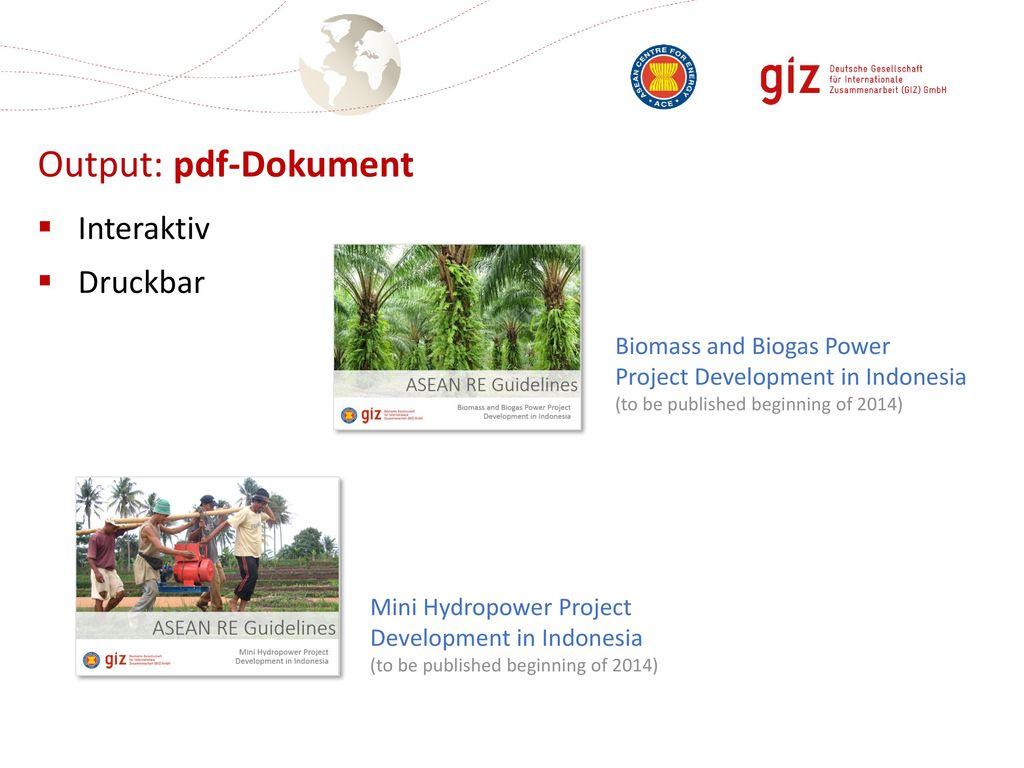 Output: pdf-Dokument Interaktiv Druckbar