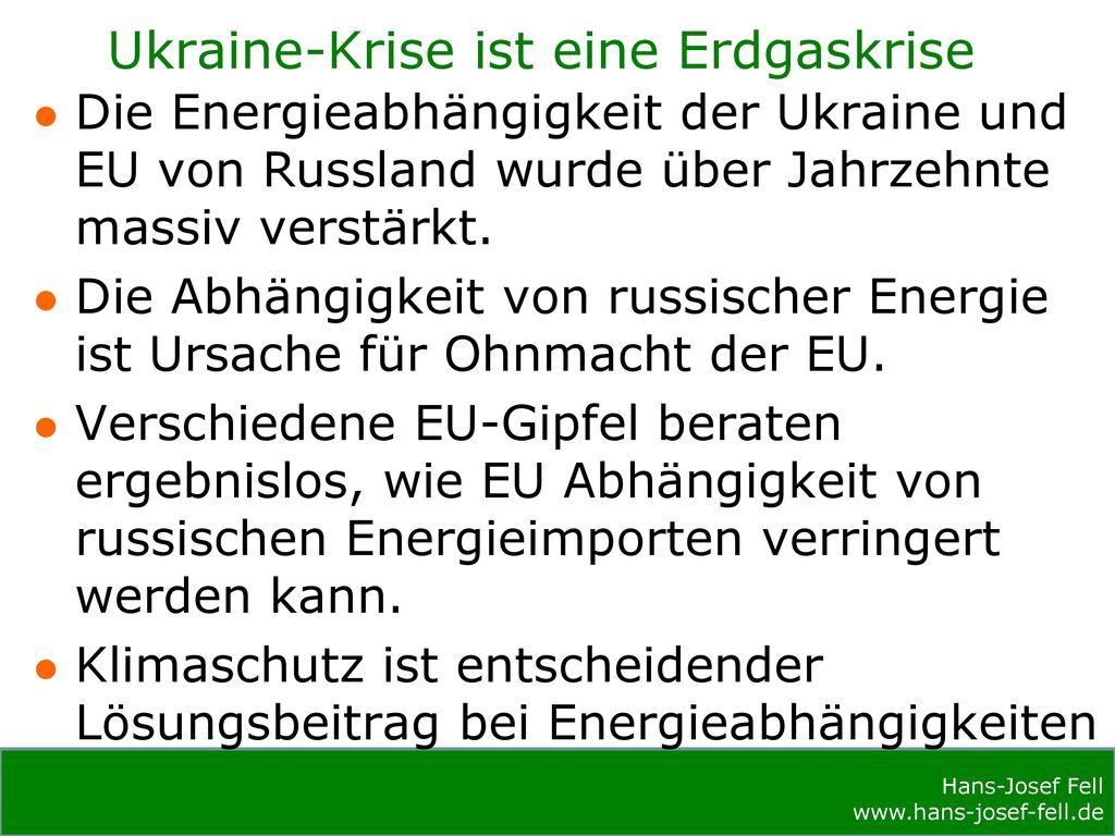 Ukraine-Krise ist eine Erdgaskrise