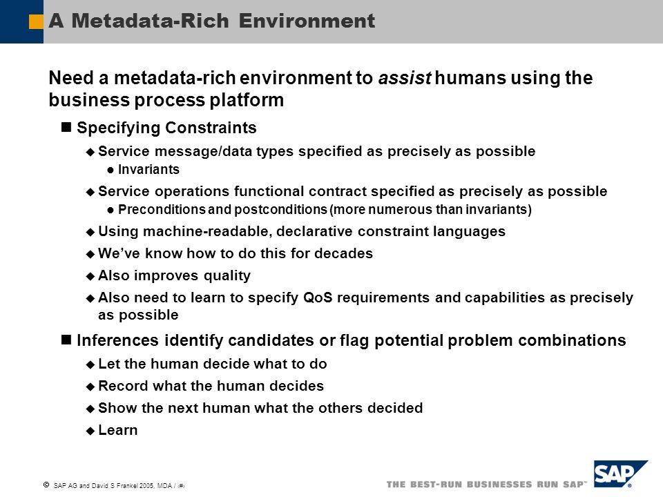 A Metadata-Rich Environment