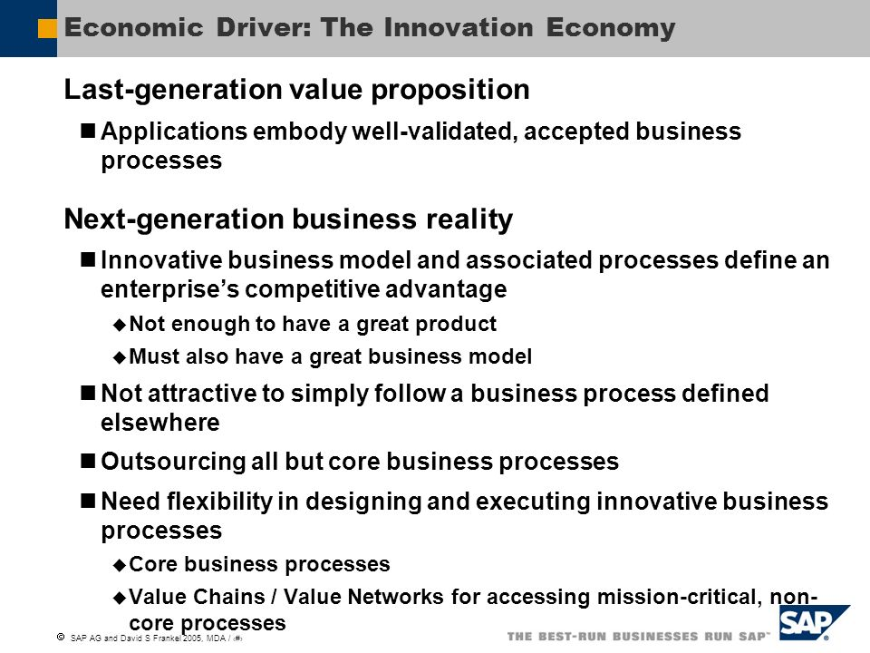 Economic Driver: The Innovation Economy