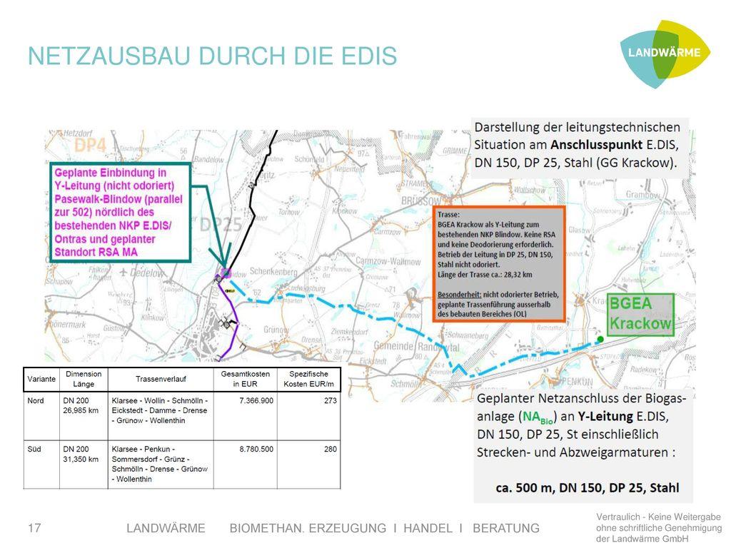 Netzausbau durch die EDIS