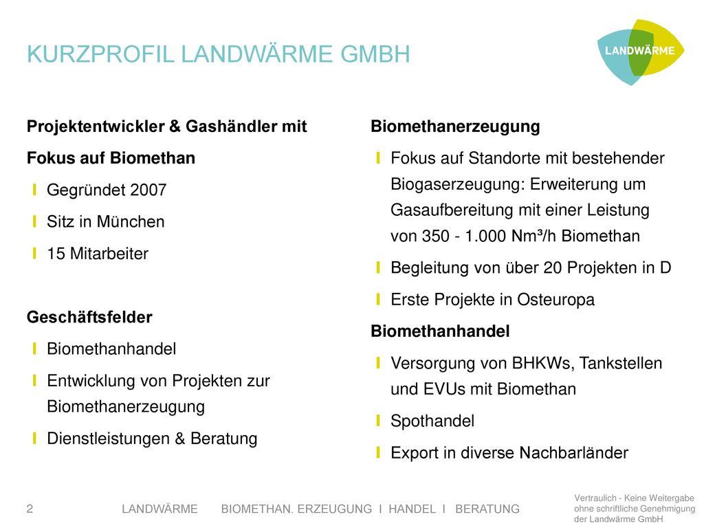 Kurzprofil Landwärme GmbH