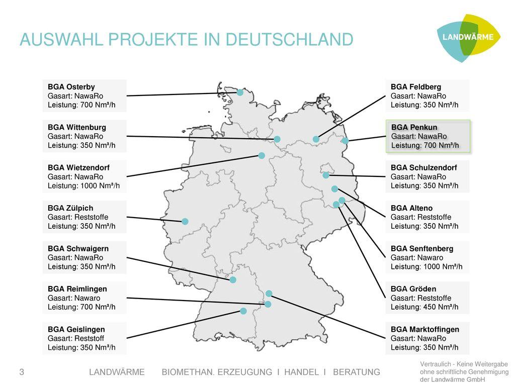 Auswahl Projekte in Deutschland