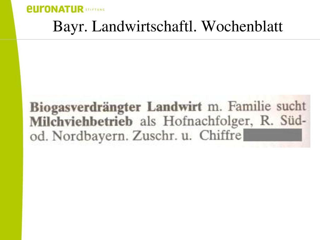 Bayr. Landwirtschaftl. Wochenblatt
