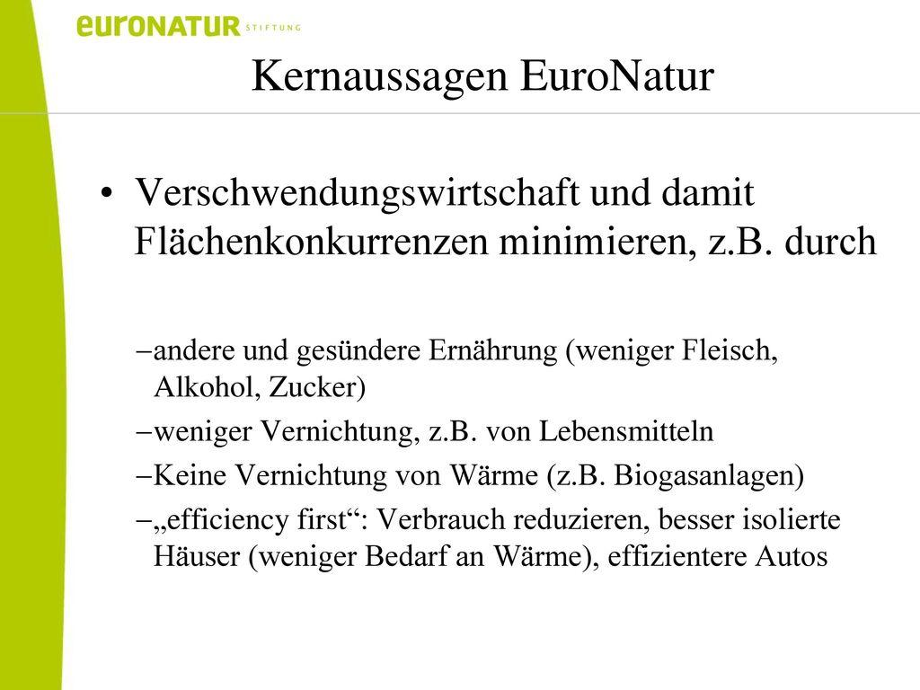 Kernaussagen EuroNatur