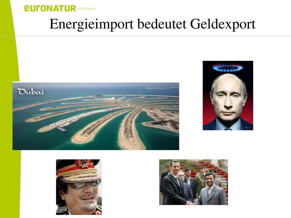 Energieimport bedeutet Geldexport