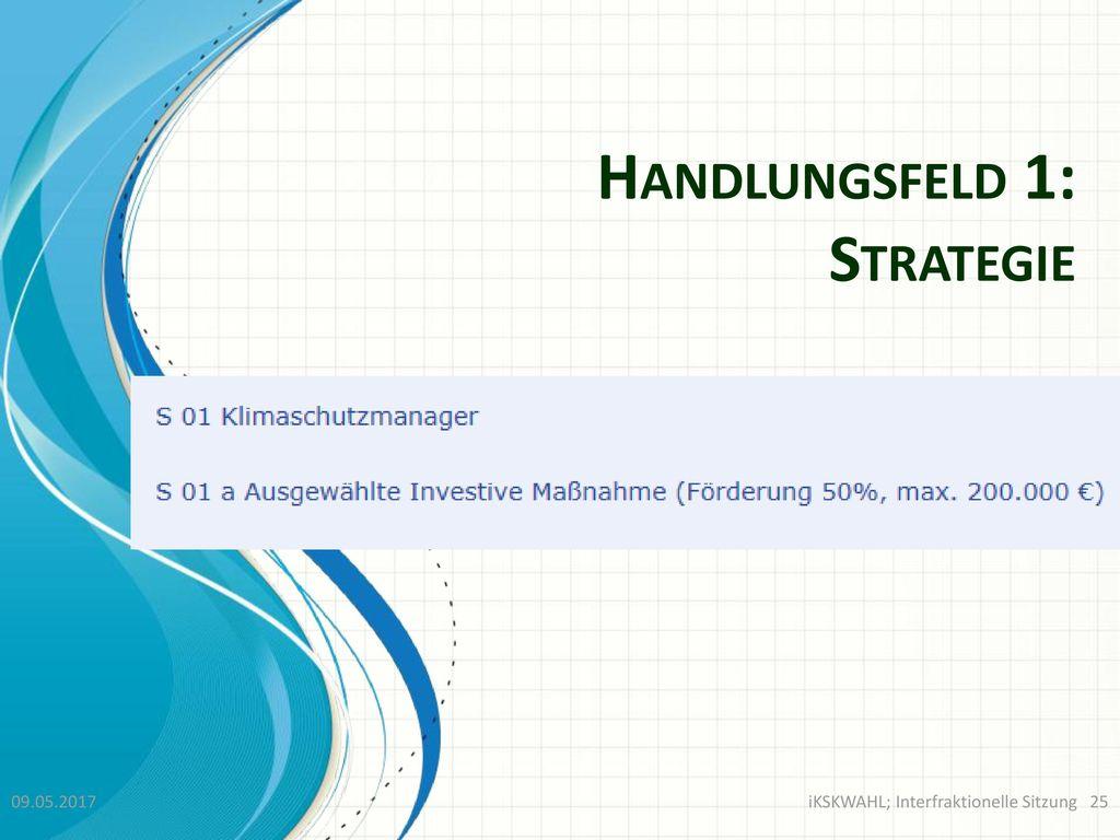 Handlungsfeld 1: Strategie