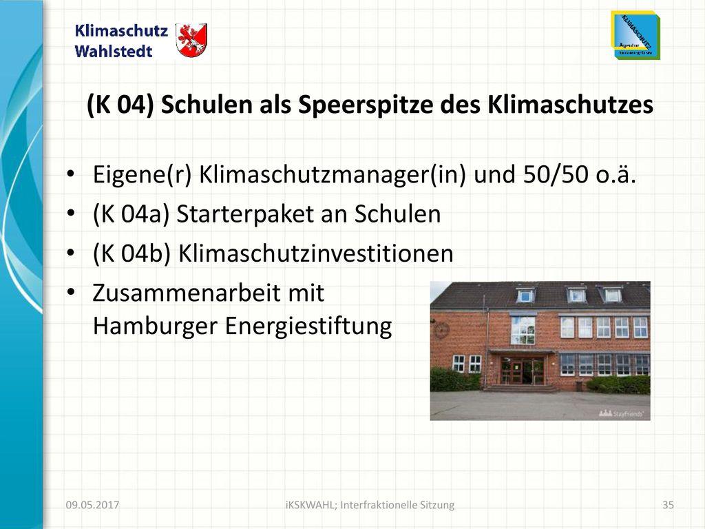 (K 04) Schulen als Speerspitze des Klimaschutzes