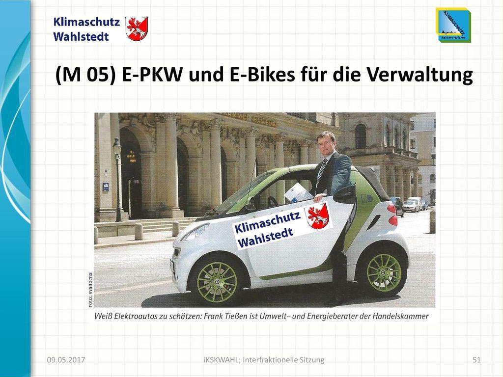 (M 05) E-PKW und E-Bikes für die Verwaltung
