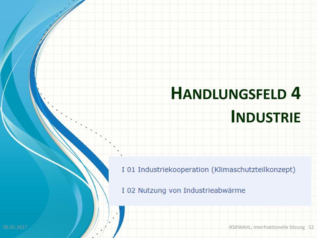 Handlungsfeld 4 Industrie