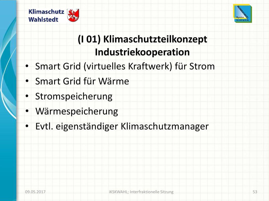 (I 01) Klimaschutzteilkonzept Industriekooperation